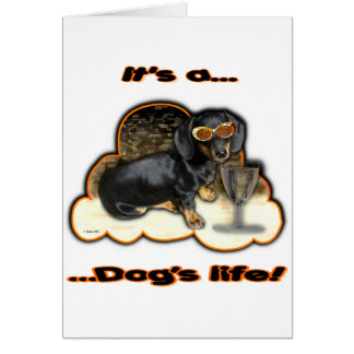 IT'S A DOGS LIFE CARD