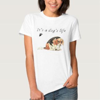 It's a dog's life funny sad Beagle T-Shirt design