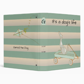 It's a Dog's Life with Rustic Beach Stripes Binder