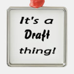 It's a draft thing! christmas tree ornaments