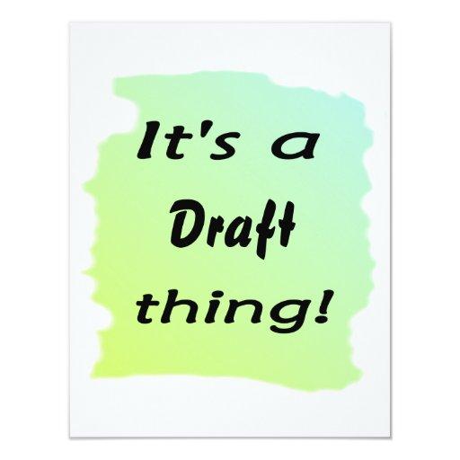 It's a draft thing custom invite