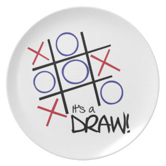 It's A Draw! Party Plate