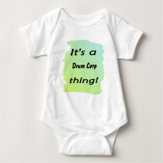 It's a drum corp thing! baby bodysuit