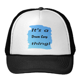 It's a drum corp thing! hats