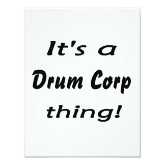 "It's a drum corp thing! 4.25"" x 5.5"" invitation card"