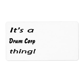 It's a drum corp thing! custom shipping label