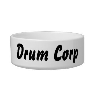 It's a drum corp thing! cat food bowls