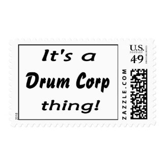 It's a drum corp thing! postage stamps