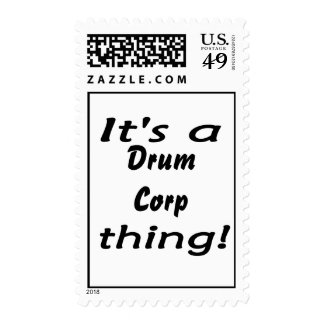 It's a drum corp thing! stamps