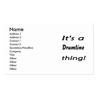 It's a drumline thing! business card
