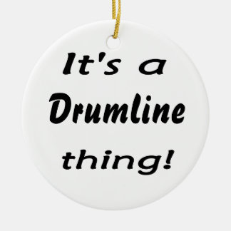 It's a drumline thing! ceramic ornament