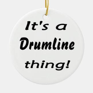 It's a drumline thing! ceramic ornament