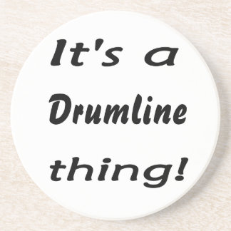 It's a drumline thing! drink coaster