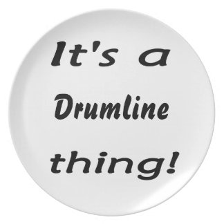 It's a drumline thing! dinner plate