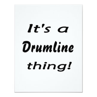 "It's a drumline thing! 4.25"" x 5.5"" invitation card"