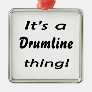 It's a drumline thing! square metal christmas ornament