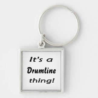 It's a drumline thing! Silver-Colored square keychain