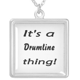 It's a drumline thing! square pendant necklace
