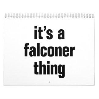 its a falconer thing calendar