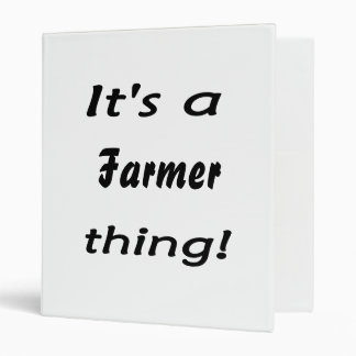 It's a farmer thing! 3 ring binders