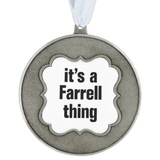 its a farrell thing scalloped pewter christmas ornament