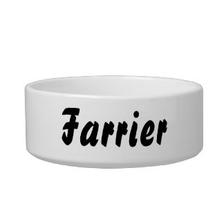 It's a farrier thing! bowl