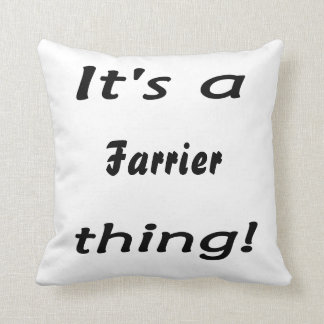 It's a farrier thing! throw pillow