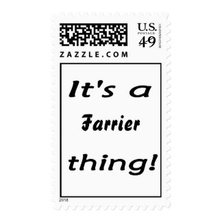 It's a farrier thing! postage stamps