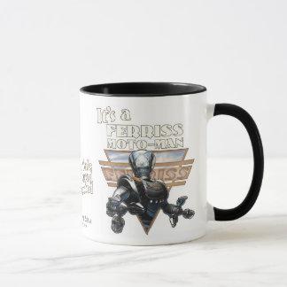 It's a Ferriss Moto-Man Mug