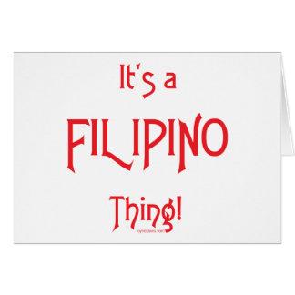 It's a Filipino Thing! Card