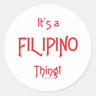 It's a Filipino Thing! Classic Round Sticker