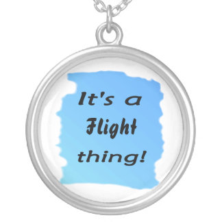 It's a flight thing! round pendant necklace
