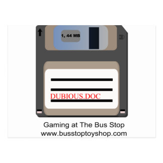 It's A Floppy Disk Postcard