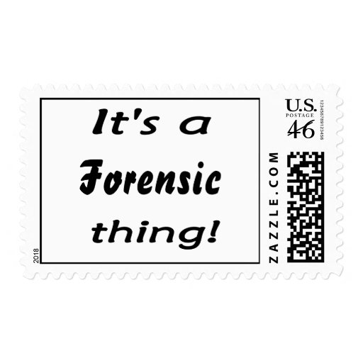 It's a forensic thing! stamps