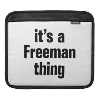 its a freeman thing iPad sleeves