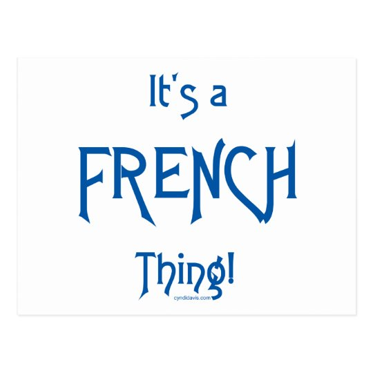It's a French Thing! Postcard