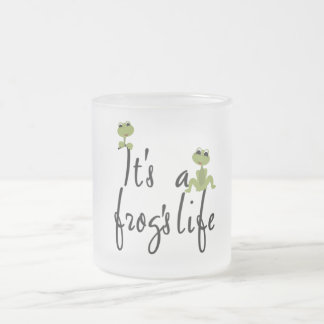 It's a Frog's Life TShirts and Gifts Frosted Glass Coffee Mug