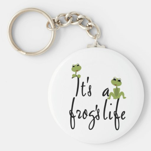 It's a Frog's Life TShirts and Gifts Key Chain