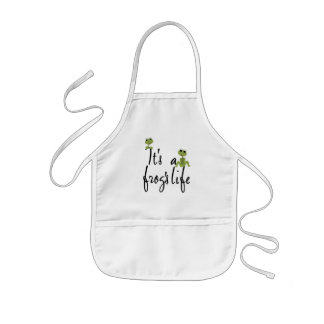 It's a Frog's Life TShirts and Gifts Kids' Apron