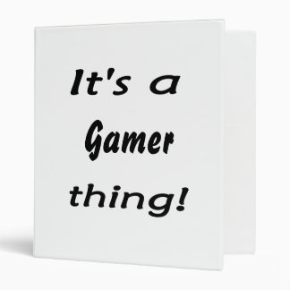 It's a gamer thing binder