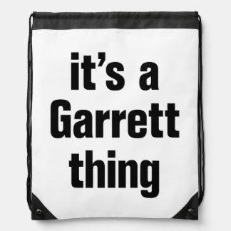 its a garrett thing cinch bag