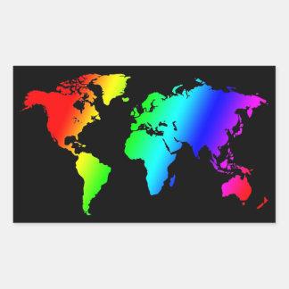 """""""Its A Gay World After All"""" Rectangular Sticker"""