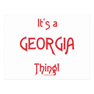 It's a Georgia Thing! Postcard