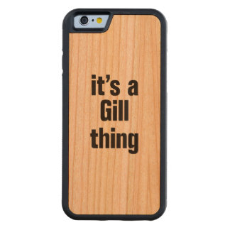its a gill thing carved® cherry iPhone 6 bumper case