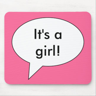 its-a-girl01 mouse pad