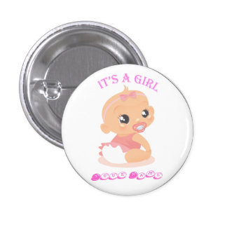 It's a Girl 1 Inch Round Button