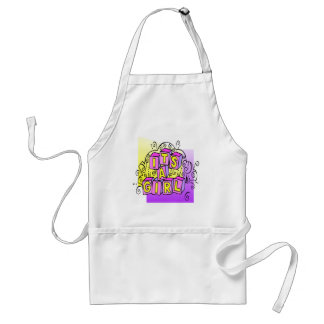 It's A Girl Adult Apron