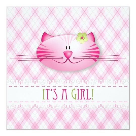 It's A Girl! Announcement card