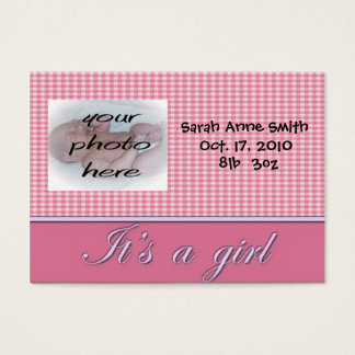 its a girl announcement cards