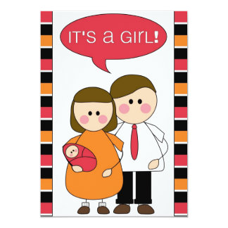 it's a girl! announcement